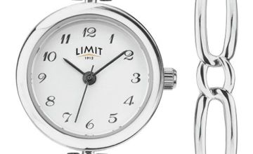 Limit Silver Metal Bracelet Watch and Bangle Bracelet