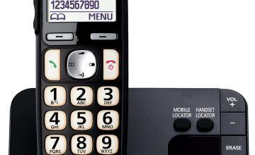 Panasonic  KX-TGE720EB Easy Use Cordless Telephone - Single