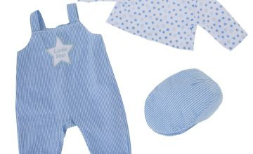Chad Valley Tiny Treasures Star Dungarees