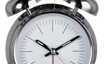 Constant Twin Bell Alarm Clock - Silver