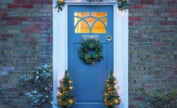 Argos Home Set of 4 Outdoor Wreath Garland