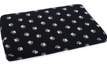 Zoon Paw Print Memory Foam Crate Mat - Large