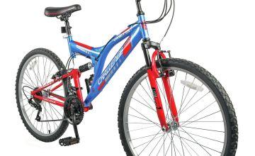 Challenge Orbit 26Inch Wheel Size Bike - Red and Blue