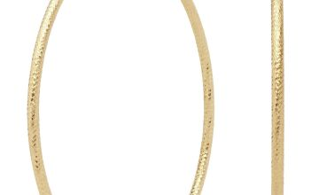 Revere 9ct Gold Plated Diamond Cut Hoops