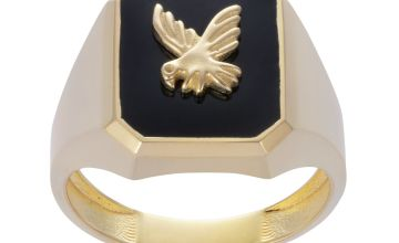 Revere Men's 9ct Gold Plated Eagle Signet Ring