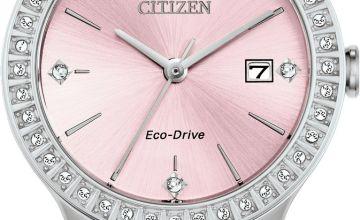 Citizen Ladies Swarovski Crystal Silver Bracelet Watch