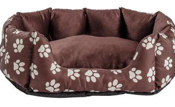 Paw Print Oval Pet Bed - Medium