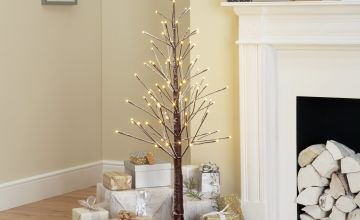 Argos Home 4ft Pre-Lit Snowy Twig Christmas Tree - Brown