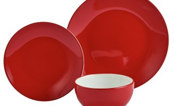 Argos Home 12 Piece Stoneware Dinner Set - Red