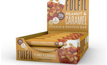 FULFIL Peanut and Caramel Protein and Vitamin Bars 15 x 55g