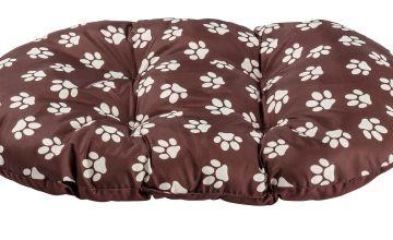 Paw Print Fleece Oval Cushion - Large