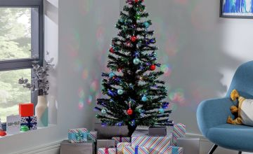 Argos Home Pre-Lit Coloured Lights Christmas Tree - 5ft
