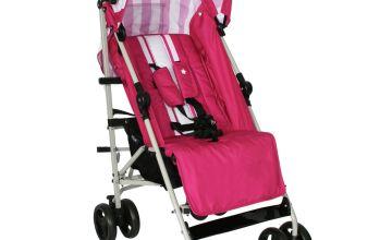 My Babiie Magenta Stripes Stroller