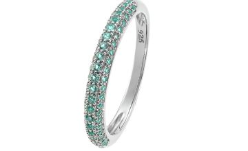 Revere Sterling Silver Ombre Pave Set Cubic Zirconia Ring-N