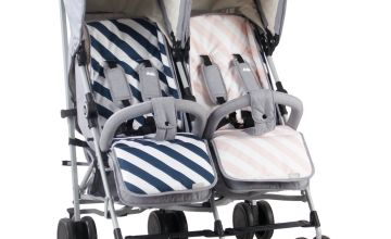 My Babiie Sam Faiers MB22 Stroller - Grey/Pink and Blue
