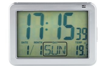 Constant Large Display Digital Alarm Clock - Silver