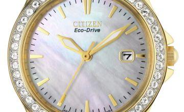 Citizen Ladies Eco-Drive Swarovski Crystal Bracelet Watch