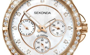 Sekonda Editions Ladies Rose Gold Coloured Bracelet Watch