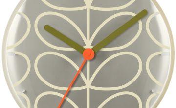 Orla Kiely Wall Clock - Cream & Grey