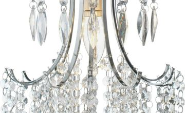 Argos Home Kirsty Beaded Shade - Clear