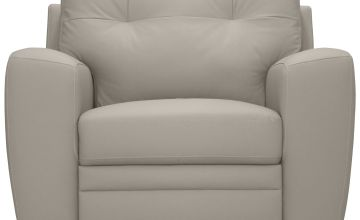 Argos Home Raphael Leather Mix Armchair - Light Grey