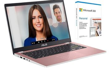 ASUS E410 14in Celeron 4GB 64GB Cloudbook - Pink