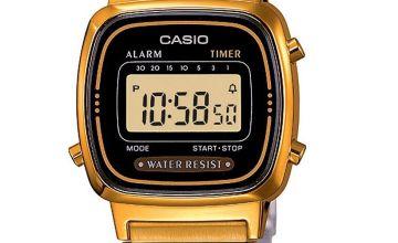 Casio Ladies Gold Coloured Stainless Steel Bracelet Watch