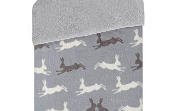 Argos Home Fleece Hare Bedding Set