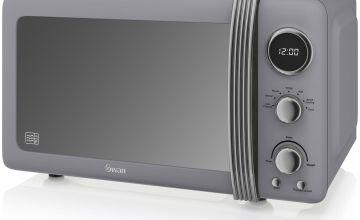 Swan 800W Standard Microwave SM22030GRN - Grey