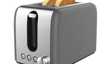 Cookworks Bullet 2 Slice Toaster - Grey