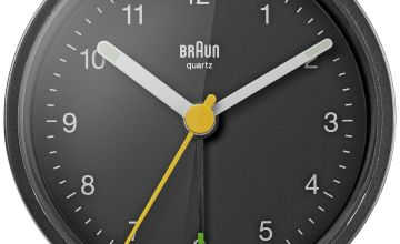 Braun Classic Analogue Alarm Clock - Black