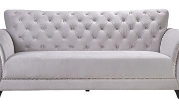 Argos Home Chelsea 3 Seater Velvet Sofa - Grey