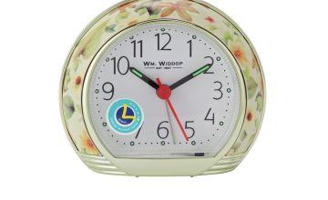 Wm. Widdop Floral Design Alarm Clock