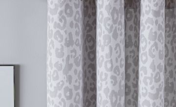 Argos Home Leopard Print Lined Eyelet Curtains