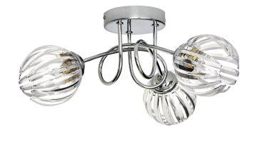 Argos Home Alana 3 Light Ceiling Light - Chrome