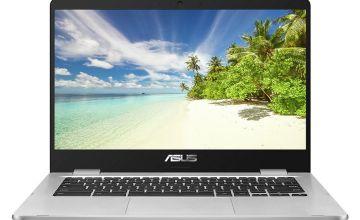 ASUS C423 14 Inch Celeron 4GB 32GB Chromebook - Grey