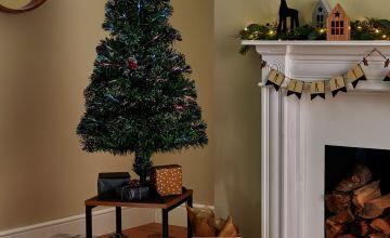 Argos Home 4ft Fibre Optic Cone & Berry Christmas Tree