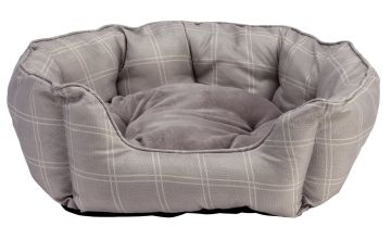 Country Check Oval Pet Bed - Large