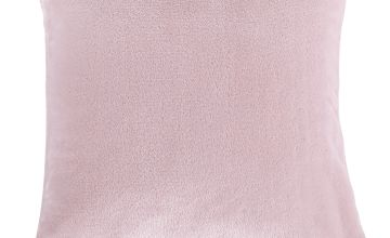 Argos Home Supersoft Fleece Cushion - Blush Pink