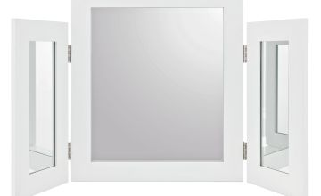 Argos Home Triple Mirror - White