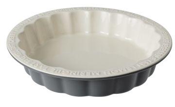Argos Home Embossed Flan Dish - Grey