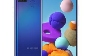 SIM Free Samsung A21s Mobile Phone - Blue