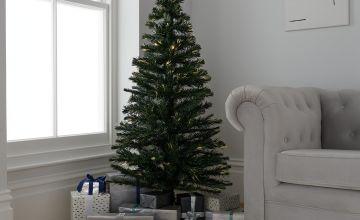 Argos Home 5ft Warm White Fibre Optic Christmas Tree - Green