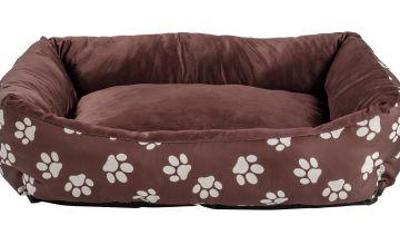Paw Print Square Pet Bed - Medium