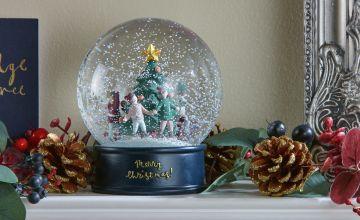 Argos Home Berry Christmas Ice Skaters Snow Globe