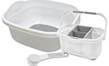 Addis Premium Kitchen Sink Set - White and Grey
