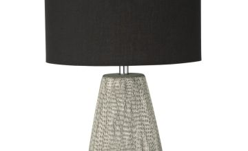 Argos Home Kanso Ceramic Table Lamp - Grey