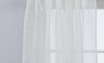 Argos Home Lurex Voile Curtain Panel - Silver