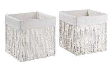Argos Home Set of 2 Rope Storage Baskets - White