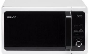Sharp 800W Standard Microwave R274WM - White